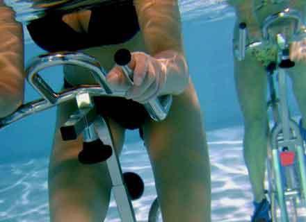 hidrobike bicicletta in acqua piscine montebelluna treviso