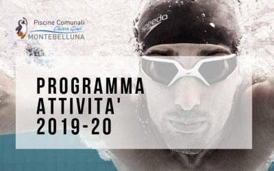 PROGRAMMA ATTIVITA' PISCINE MONTEBELLUNA 2019/2020