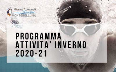NUOVI ORARI ATTIVITA'  INVERNO 2020/21